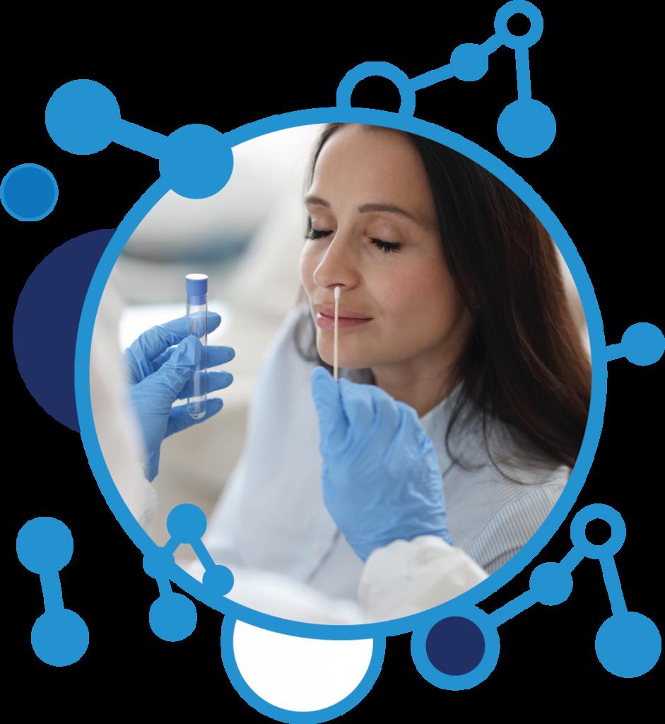 PCR testing using swab